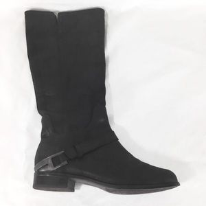 Ugg Channing II black leather tall boots size 7.5